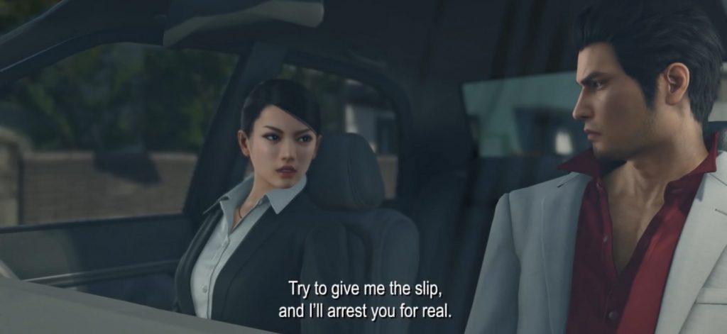 Yakuza Kiwami 2 - scena w samochodzie