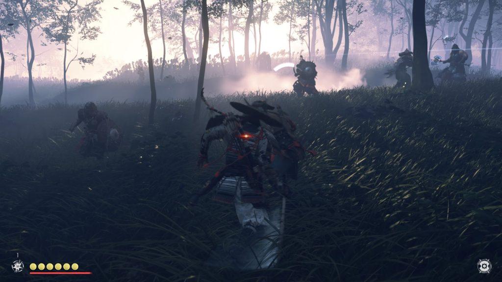 Zasadzka mongołów w lesie