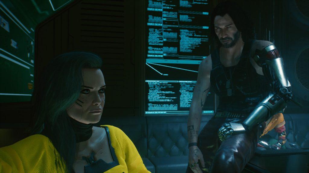 screen z cyberpunk 2077 na PS4