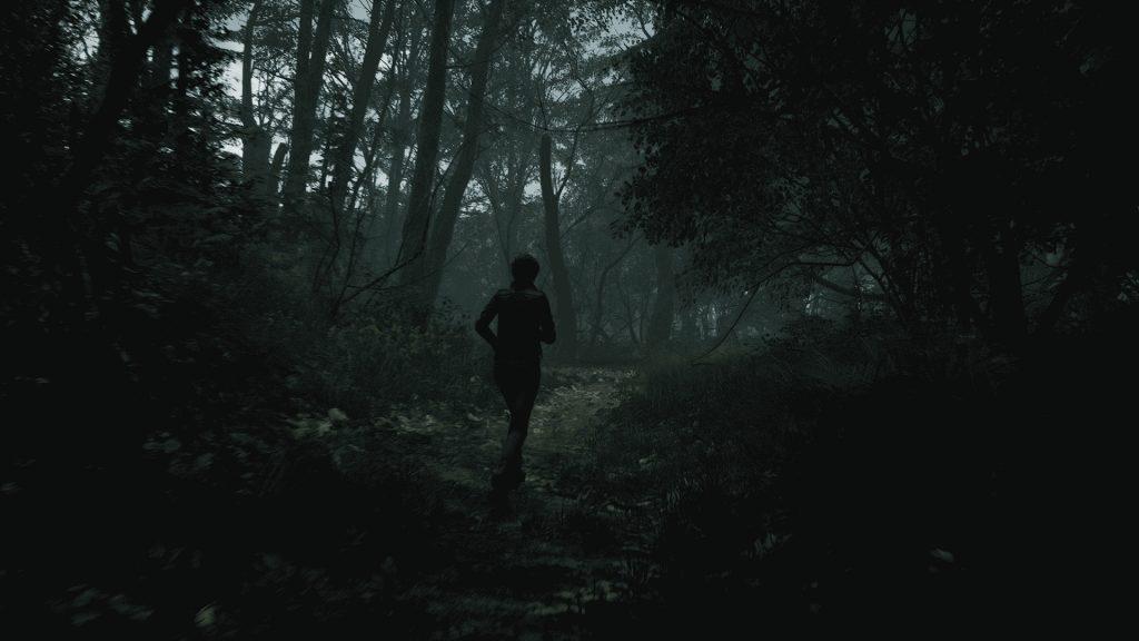 ucieczka przez las w the medium