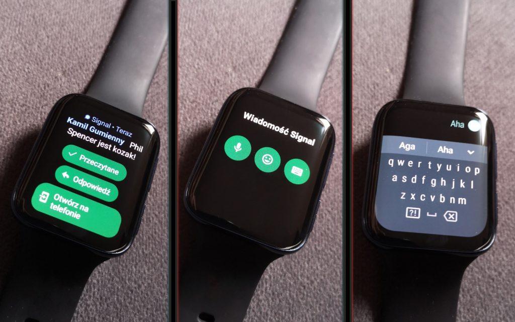 Klawiatura ekranowa w smart watchu