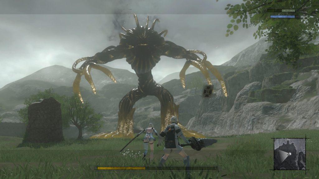 NieR replicant walka z bossem