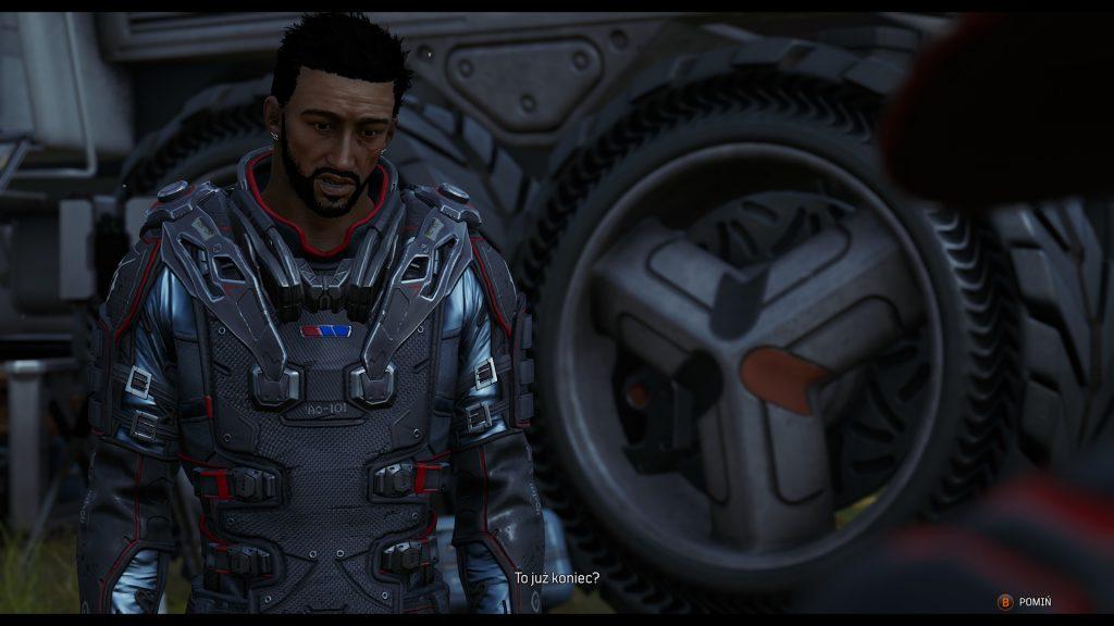 główny bohater outriders na początku misji