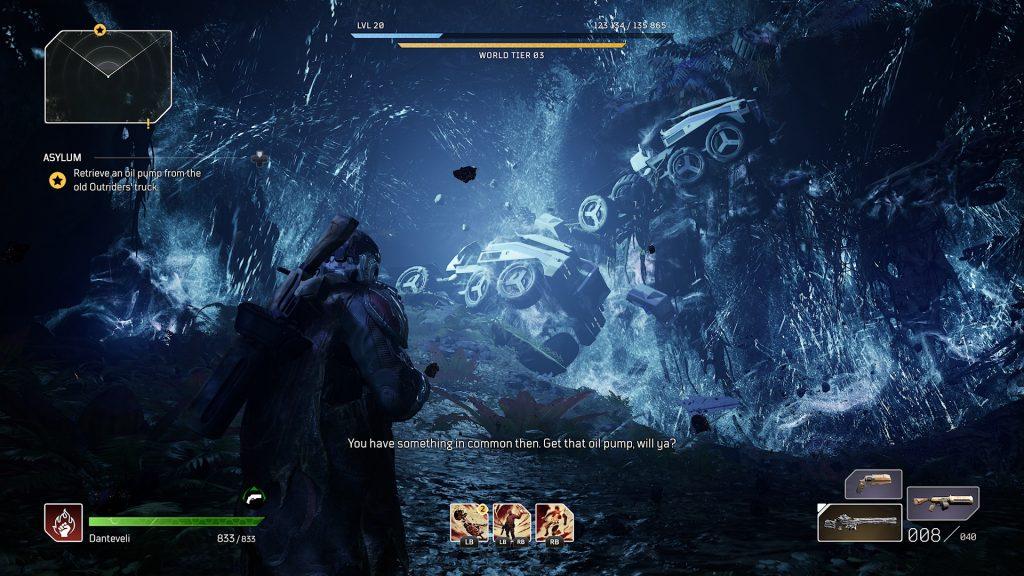 Jaskinia z załamaniem przestrzeni w outriders