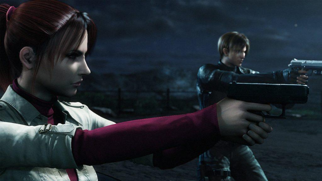 Claire i Leon w resident evil degeneracja