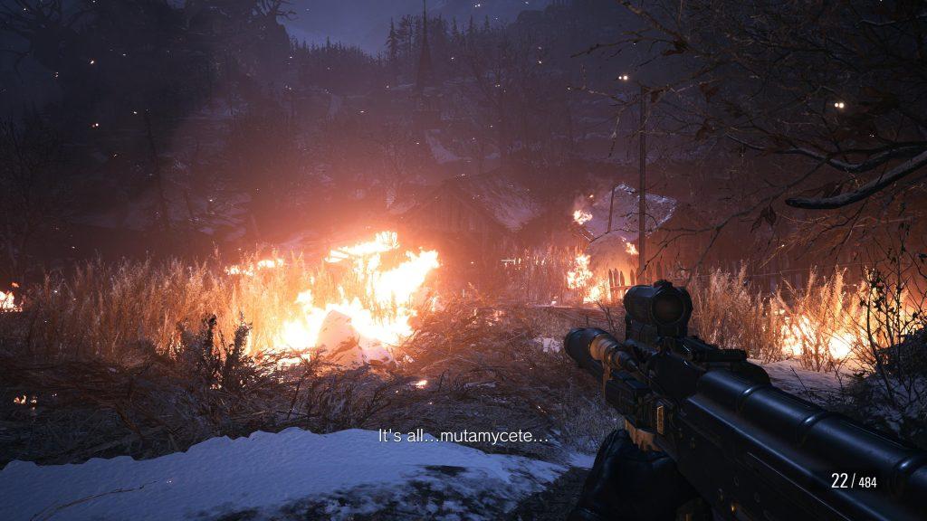 Płomienie w Resident Evil Village