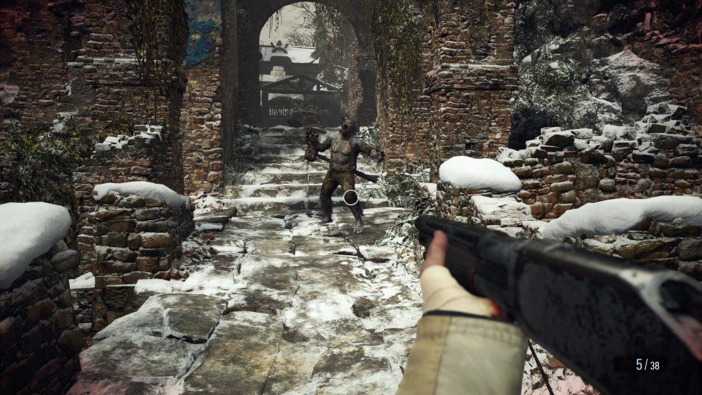 Strzelanie w Resident Evil Village