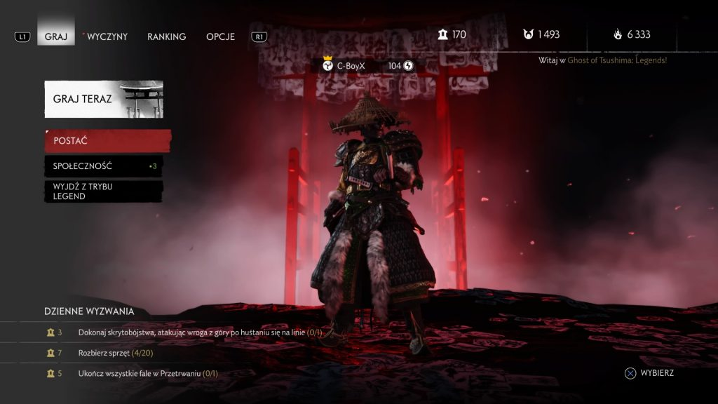 lobby ghost of tushima: legends