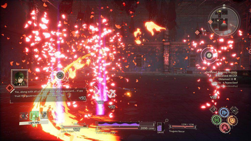 Efekty świetlne w Scarlet Nexus robią wrażenie