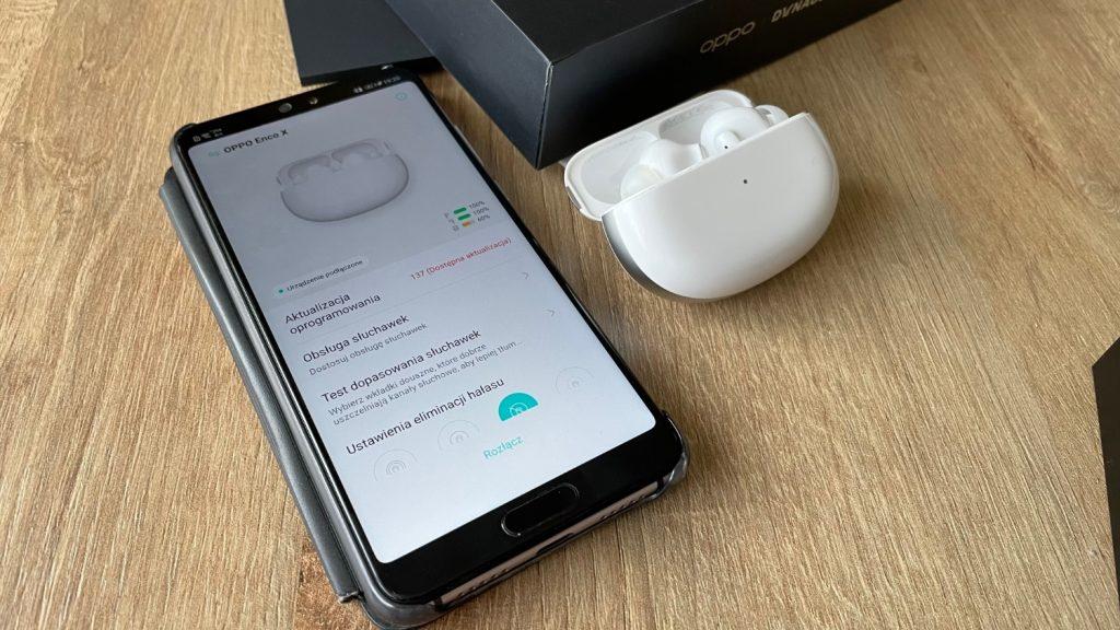 Aplikacja HeyMelody na Androida i słuchawki Oppo Enco X