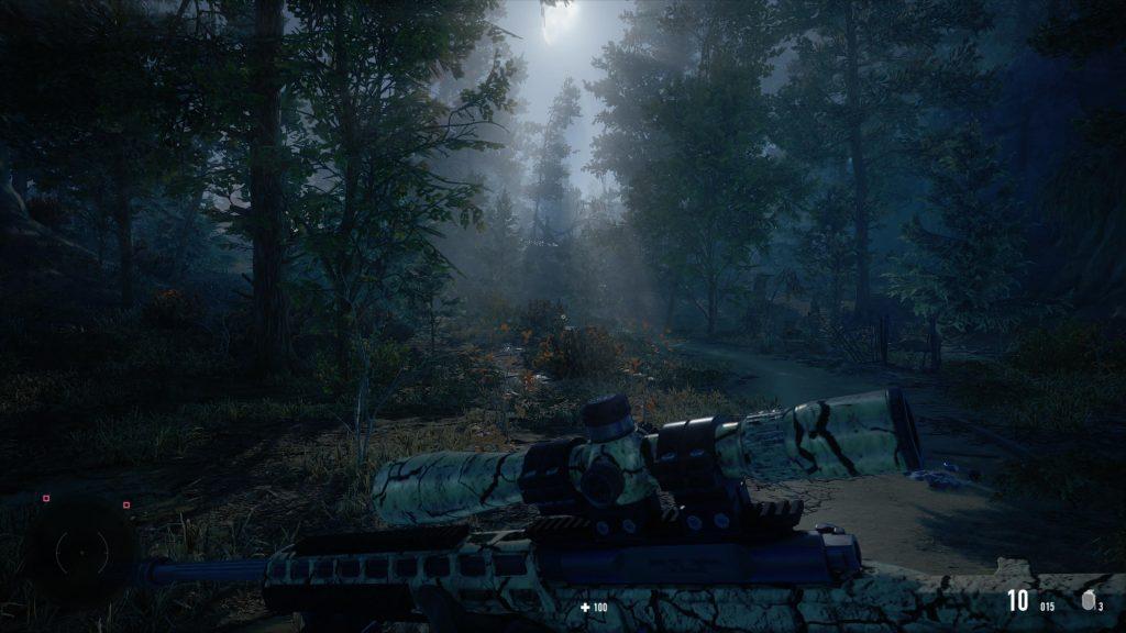 marsz snipera w lesie